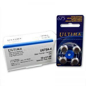 Zinc Air Hearing Aid Batteries - Size 675 (Blue)